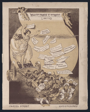 Whitcombe & Tombs Ltd :Whitcombe and Tombs Limited, Cashel St, Christchurch. Whitcombe & Tombs Limited, lith. [Front cover. 1884]
