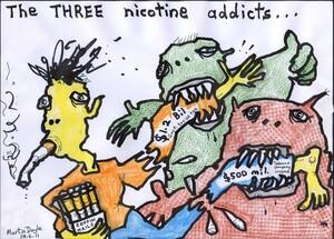 Doyle, Martin, 1956- :The THREE nicotine addicts... 28 June 2011