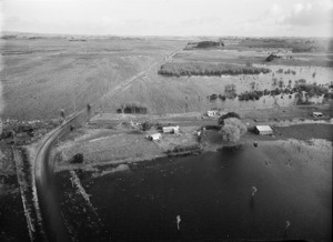 Flood at Rangiriri, Waikato