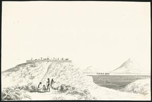 Merrett, Joseph Jenner, 1816?-1854 :The pa of 'Maketu' at Otawao in the Waipa, Dec.r 1843.