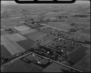Aerial view of Prebbleton, Canterbury, New Zealand