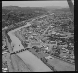 Hutt City, showing St James Church and the Public Library
