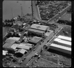 Factories and housing scenes in Auckland