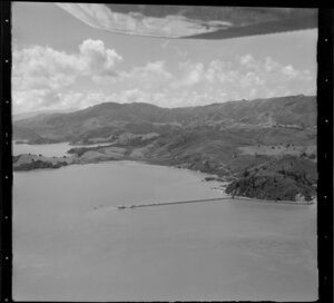 McGregor Bay including wharf, Long Bay Road, and Wyuna Bay, Coromandel Peninsula, Thames-Coromandel District
