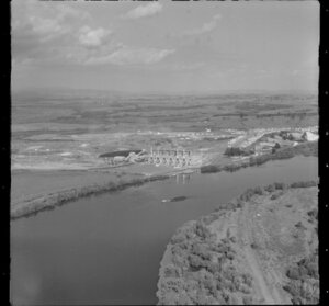 Meremere, Franklin District, featuring the Waikato River and power station