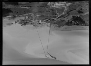 Cement works with shipping, Manukau