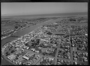 Whanganui, showing Cooks Gardens and Sarjeant Art Gallery in centre
