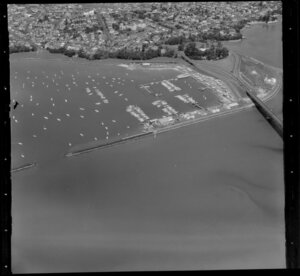 Harbour Bridge and Westhaven Marina, Auckland