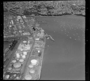 Tank Farm and wharves, Freemans Bay, Auckland