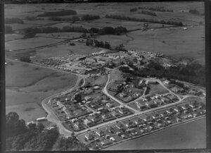 Maramarua, Waikato Region, including houses and sawmill