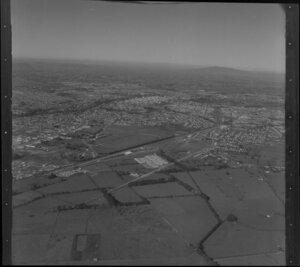Te Rapa area, with race course in the distance, Hamilton, Waikato region