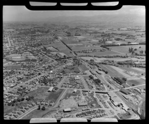 Masterton, showing a timber yard and railway line