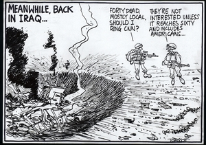 Scott, Thomas, 1947- :Meanwhile back in Iraq... Dominion Post. 14 July 2005.