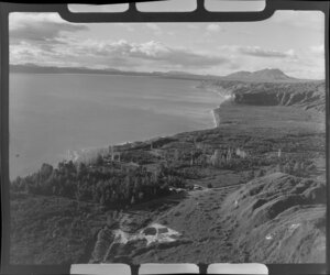 View of Hatepe and Lake Taupo, Taupo, Waikato region