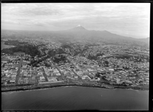 New Plymouth, from above the sea