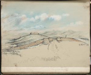 Fraser, I T[allon?] B, fl 1860s :Near the Waikato Heads. Waikato River [fort. ca 1864].