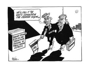 Hubbard, James, 1949- : 'We'll call it the Govt's consultative job creation scheme.' 27 October 2011
