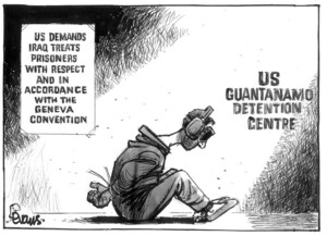 Evans, Malcolm, 1945- :US demands Iraq treat prisoners with respect and in accordance with the Geneva Convention. New Zealand Herald, 26 March, 2003.