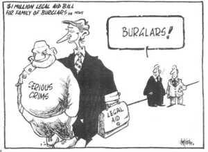Hubbard, James 1949- :$1 Million Legal Aid Bill for Family of Burglars..news. Serious crims. Legal Aid. 'BURGLARS!' The Dominion, 12 April 2002.
