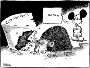"'Zimbabwe'. ""Tsk tsk.."" 25 June, 2008"