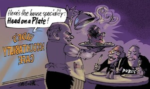 """""""Here's the house speciality, Head on a Plate!"""" 24 March, 2007"""