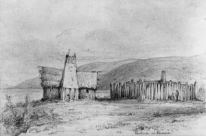 Swainson, William, 1789-1855 :Police stockade - Porirua Harbour, 1845.