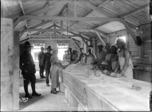 Men inside the 1st NZ Field Bakery
