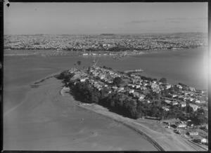 Harbour Bridge construction, Northcote, Auckland