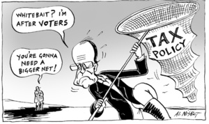 """""""Whitebait? I'm after VOTERS"""" """"You're gonna need a bigger net!"""" 22 August, 2005"""