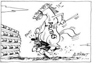 Nisbet, Al 1958- : Politics, 'Pant.' Christchurch Press, 05 August 2001.