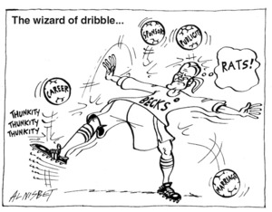 The wizard of dribble... 14 April, 2004