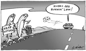 "Head Waters. ""Rivers are runnin' low!"" 13 December, 2005"