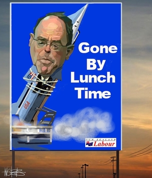Webb, Murray, 1947- :Don Brash. Gone by lunchtime 6 July 2005