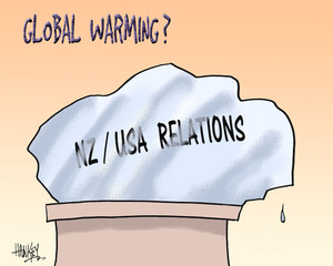 Global warming? NZ/USA relations. 22 March, 2007