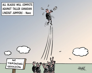 All Blacks will compete against taller Canadian lineout jumpers - News. 15 June, 2007