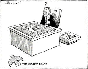 The missing peace. Middle East jigsaw. 8 August, 2006.