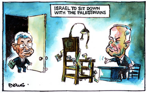 Evans, Malcolm Paul, 1945- :Israel to sit down with the Palestinians. 9 January 2012