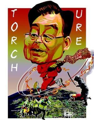 Wen Jiabao. 'Torch ure' 8 April, 2008