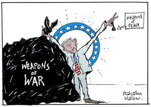 WEAPONS OF WAR. Weapons of PEACE. Sunday News, 4 April 2003