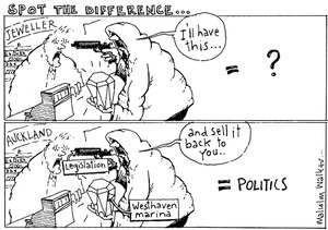 SPOT THE DIFFERENCE. Sunday News, 16 April 2004