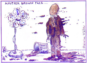 ANOTHER BROWN FACE... Treaty policy. Sunday News, 4 February 2005