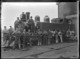 Wf class steam locomotive, NZR number 386, and railway workers